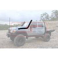 "Toyota Landcruiser 70 Series 4"" TWIN Stainless Snorkel L/H Side (Powdercoated Finish)"